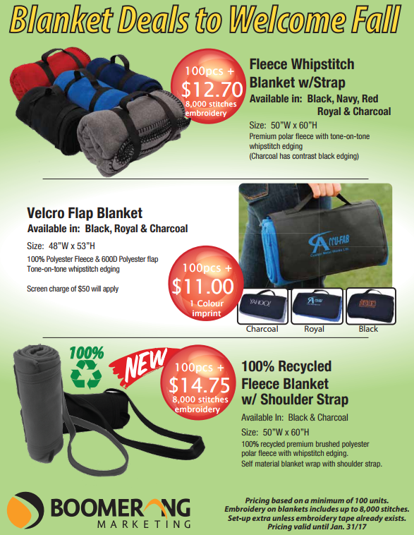 Blanket Deals to Welcome Fall